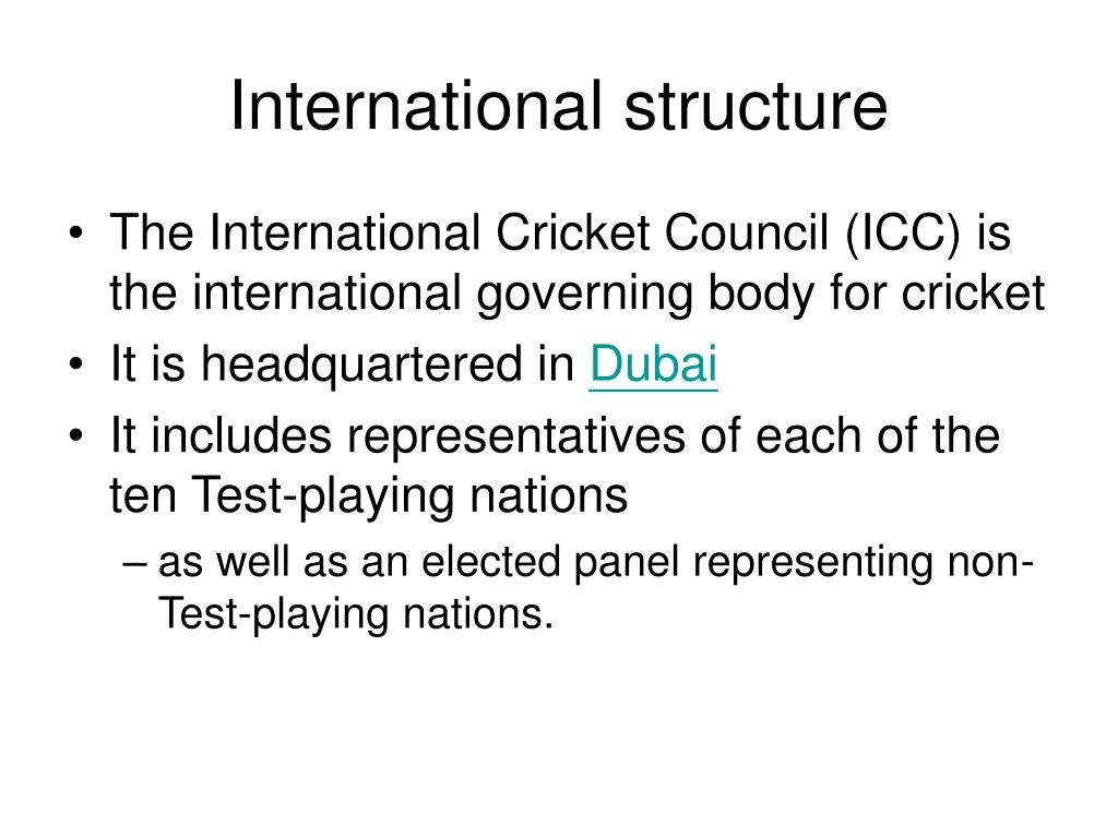 International structure