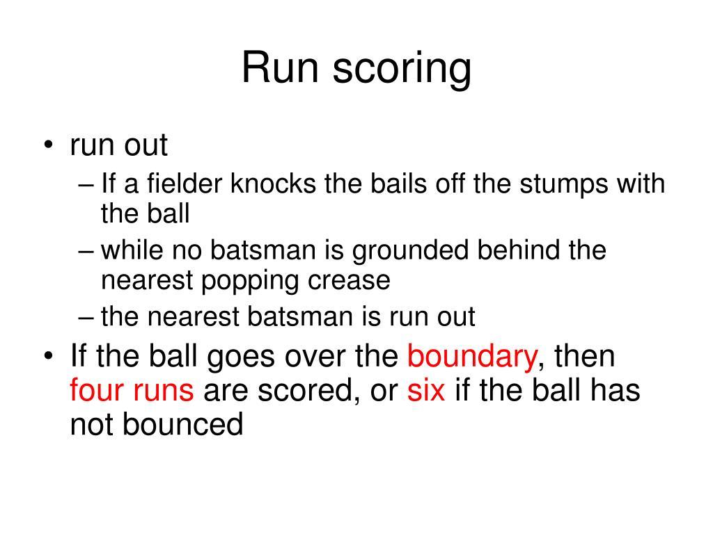 Run scoring