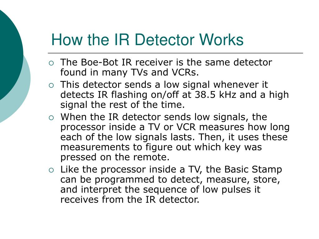 How the IR Detector Works