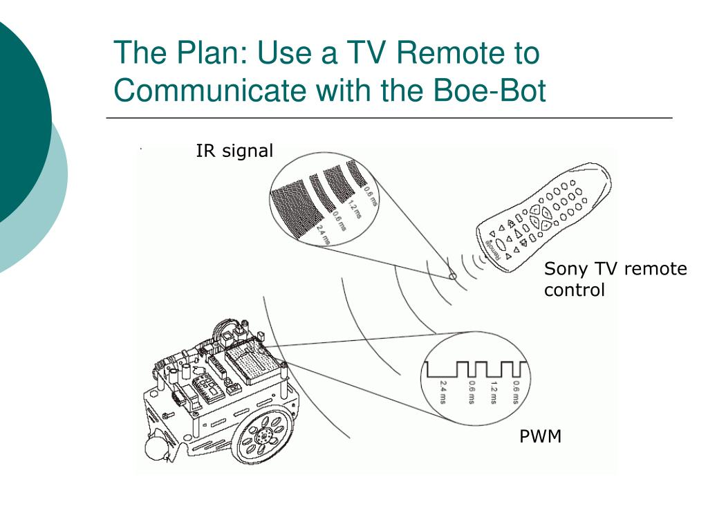 The Plan: Use a TV Remote to Communicate with the Boe-Bot