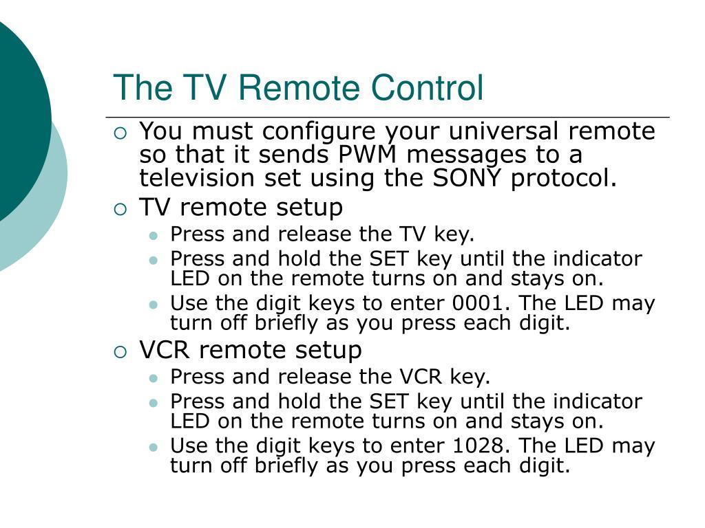 The TV Remote Control