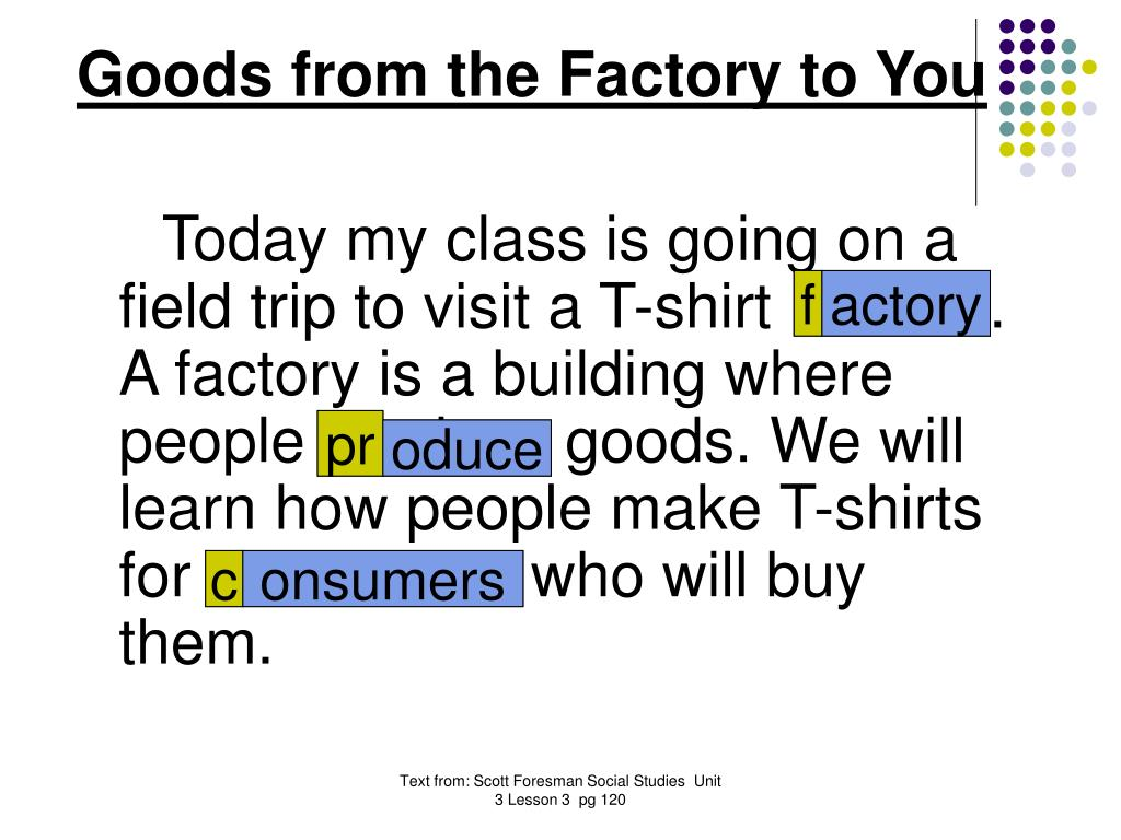 Goods from the Factory to You