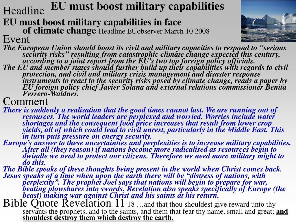 EU must boost military capabilities