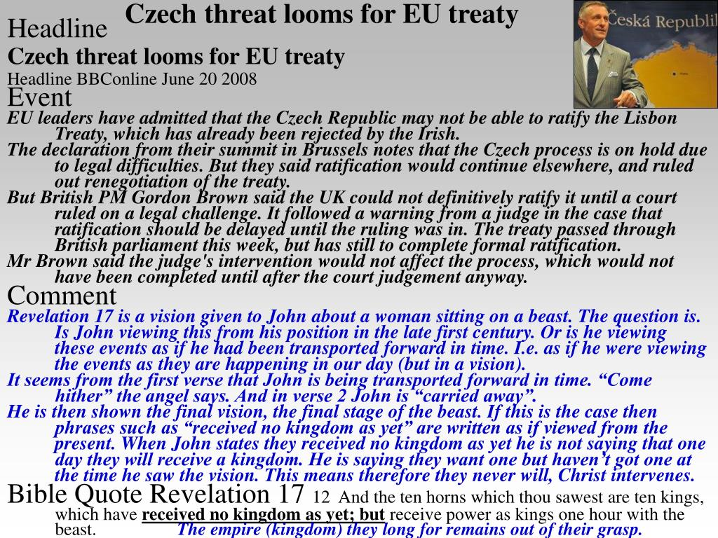 Czech threat looms for EU treaty