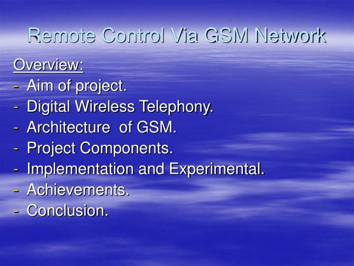 Remote control via gsm network2