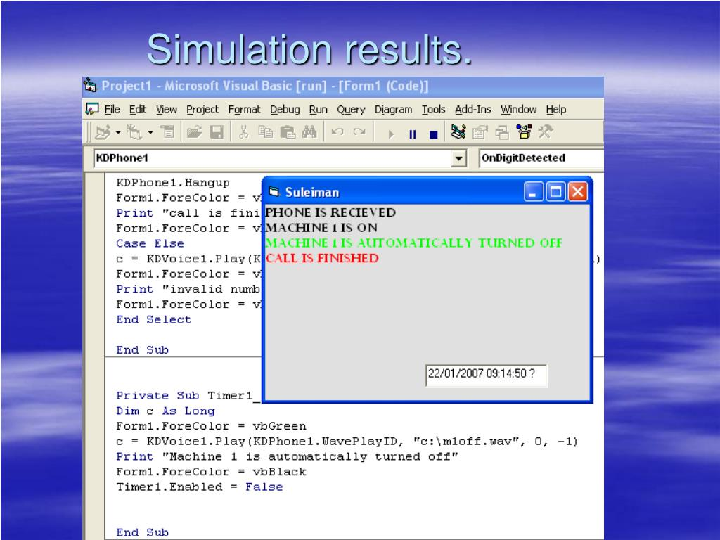 Simulation results.