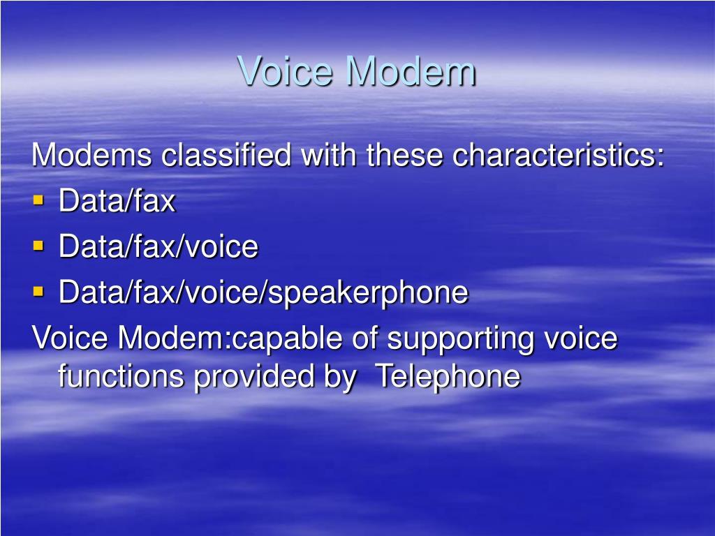 Voice Modem