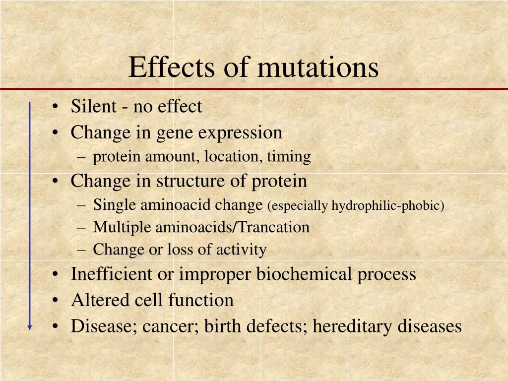 Effects of mutations