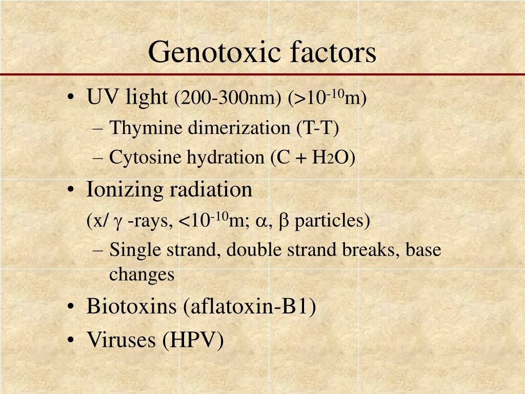 Genotoxic factors