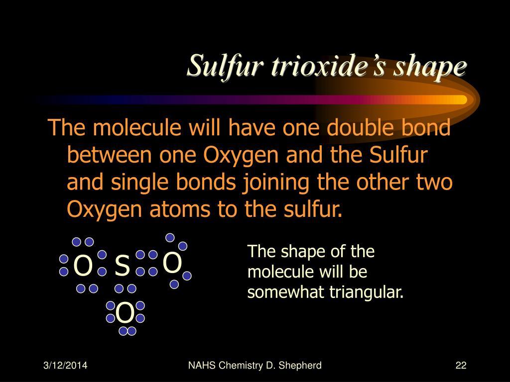 Sulfur trioxide's shape