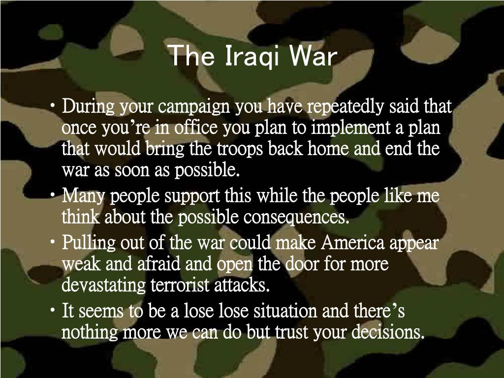 The Iraqi War