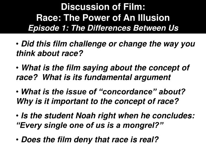 Discussion of Film: