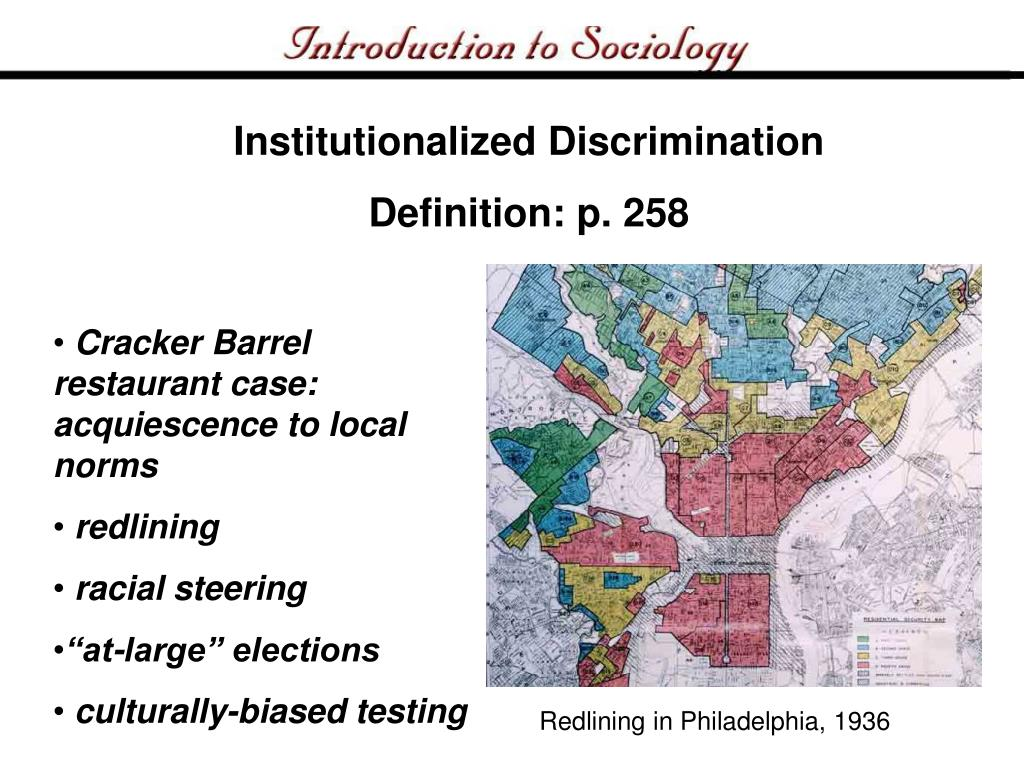 Institutionalized Discrimination