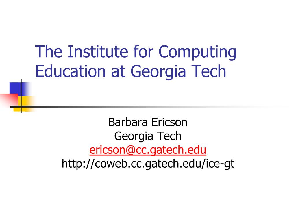 the institute for computing education at georgia tech