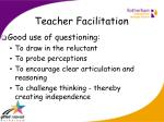 teacher facilitation