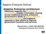 adaptive enterprise defined