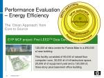 performance evaluation energy efficiency the onion approach from core to source
