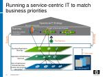 running a service centric it to match business priorities