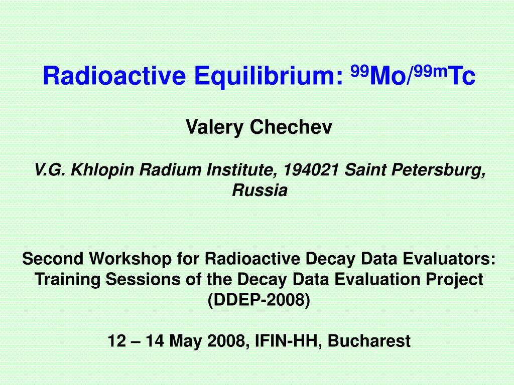 Radioactive Equilibrium: