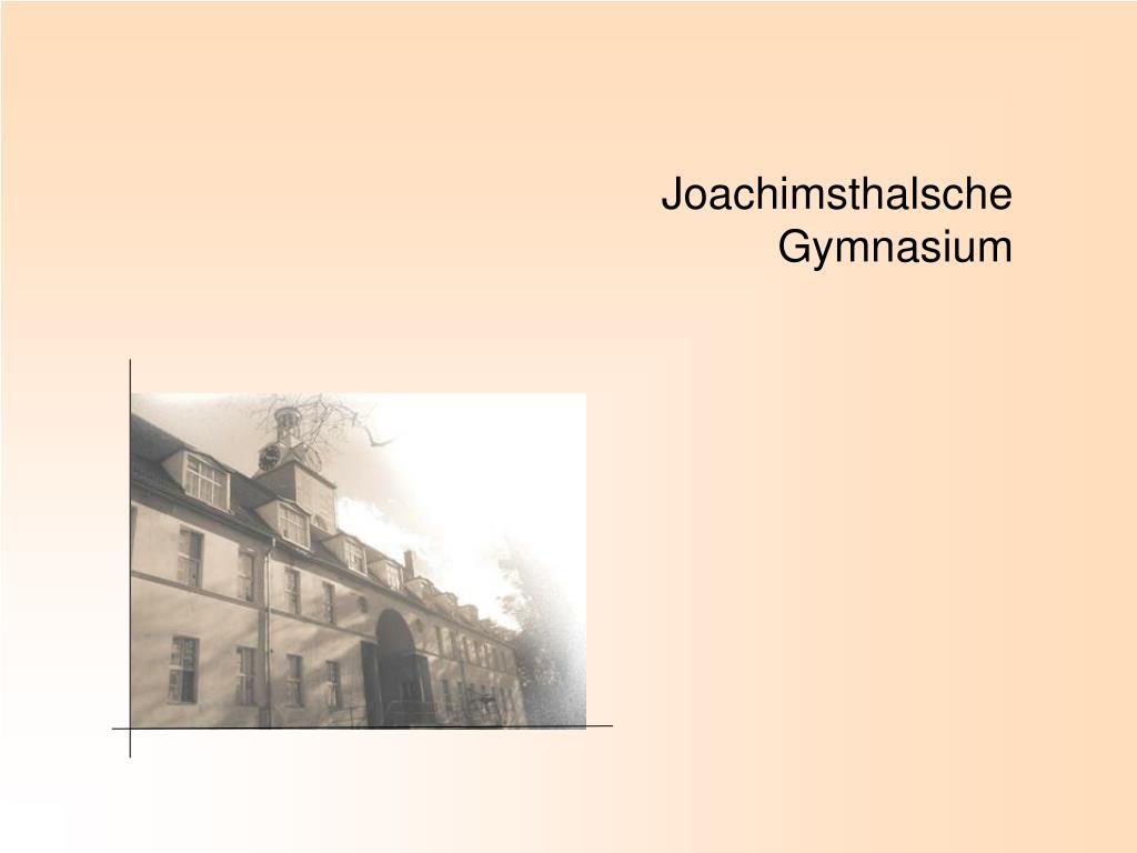 joachimsthalsche gymnasium