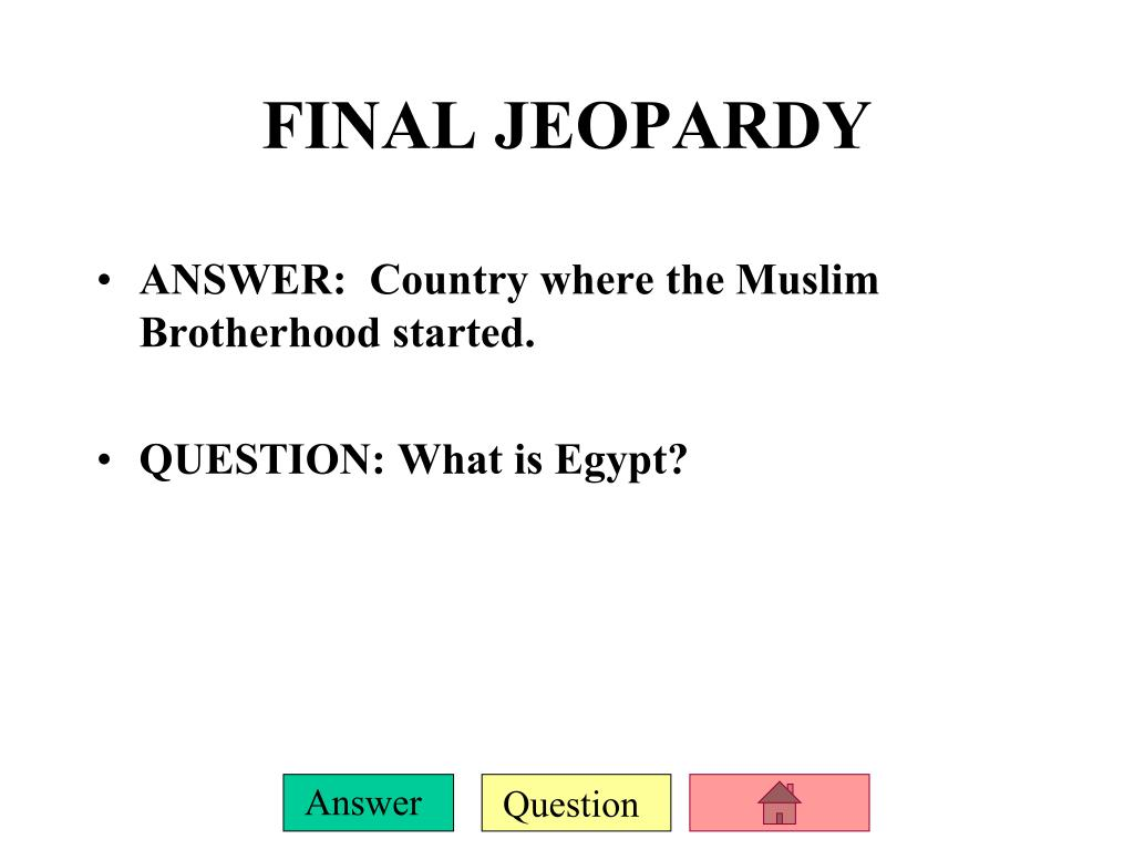 ANSWER:  Country where the Muslim Brotherhood started.