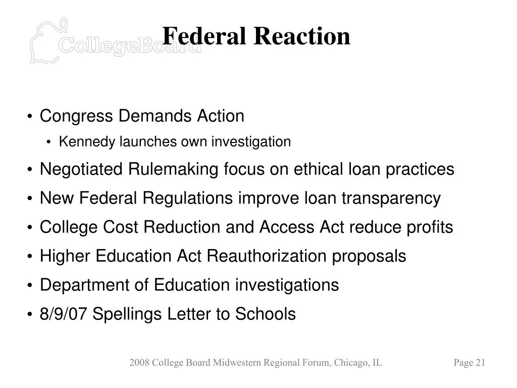 Federal Reaction
