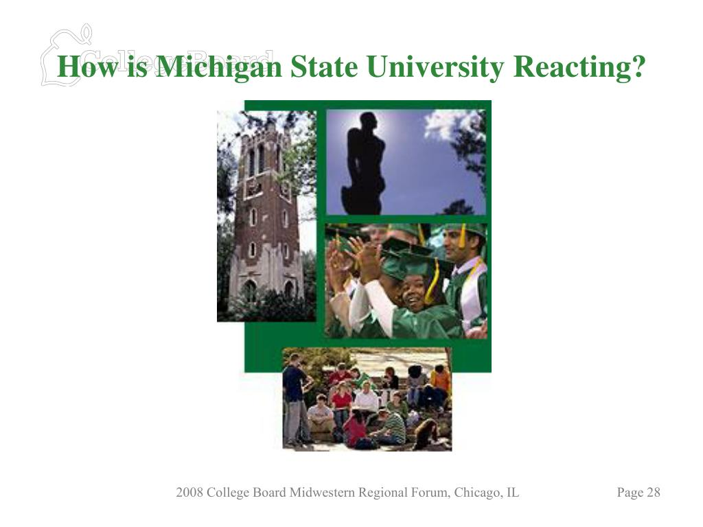 How is Michigan State University Reacting?