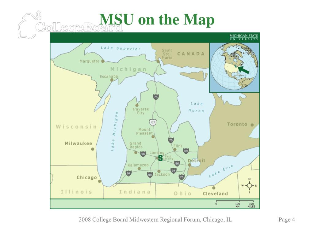 MSU on the Map