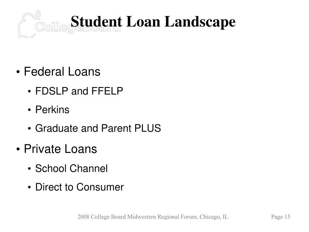 Student Loan Landscape