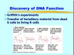 discovery of dna function