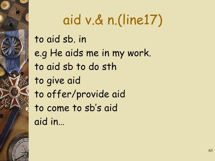 aid v.& n.(line17)