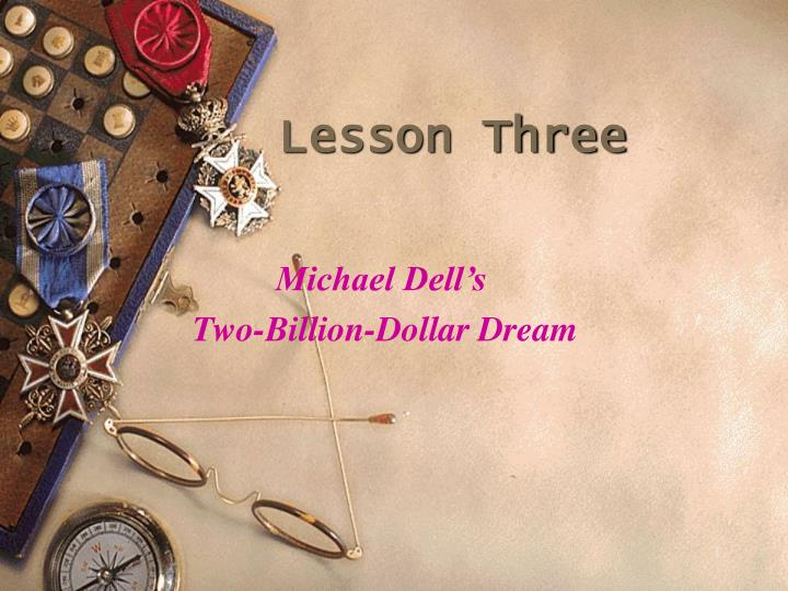 Lesson three