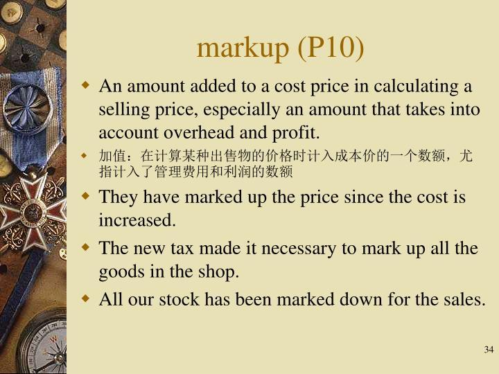 markup (P10)