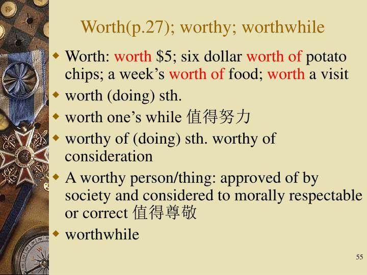 Worth: