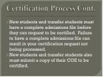 certification process cont15
