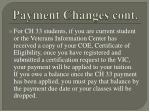 payment changes cont