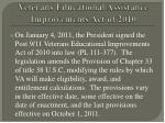veterans educational assistance improvements act of 2010