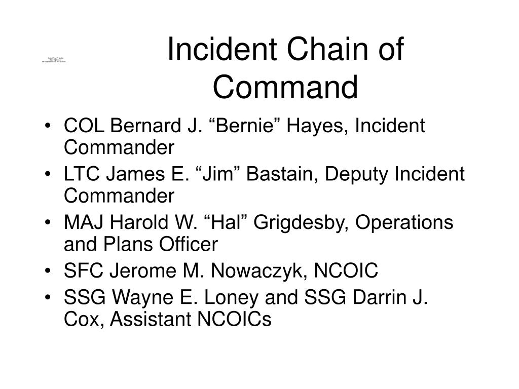 Incident Chain of Command