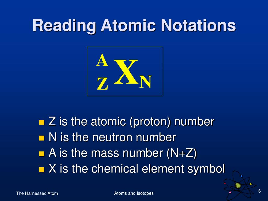 Reading Atomic Notations