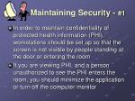 maintaining security 1
