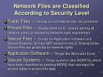 network files are classified according to security level