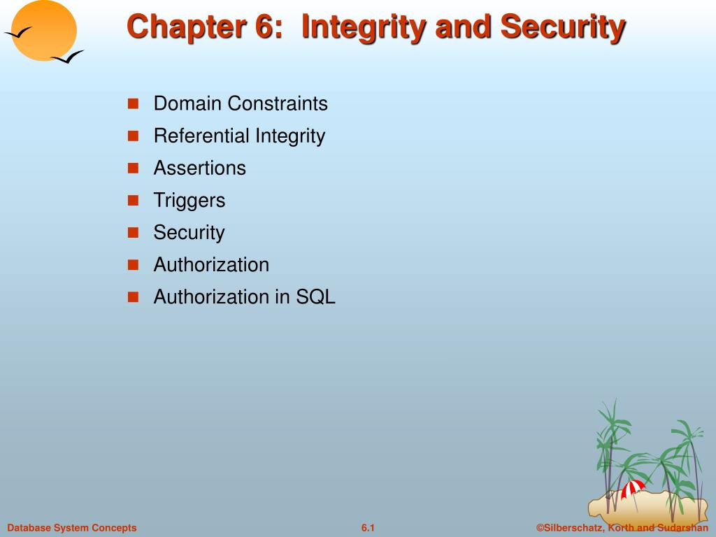 chapter 6 integrity and security