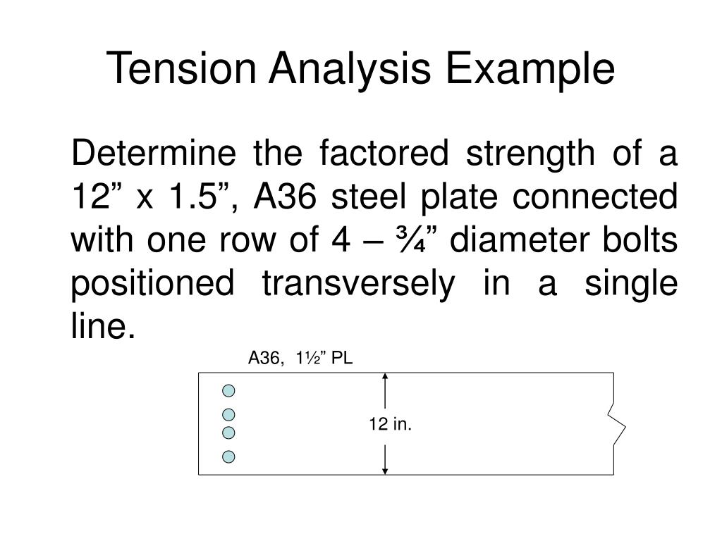 Tension Analysis Example