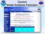 current model analyses forecasts