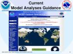 current model analyses guidance