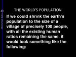 the world s population