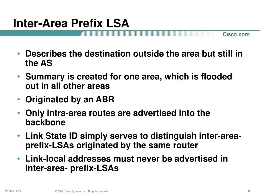 Inter-Area Prefix LSA
