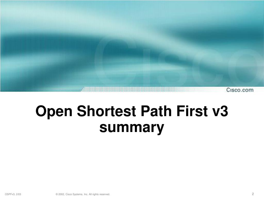 Open Shortest Path First v3