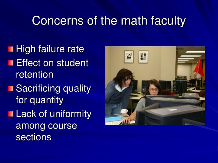 Concerns of the math faculty l.jpg