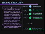 what is a half life